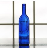 750 ML Bordeaux Cobalt Bottle Blue