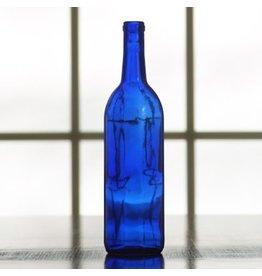 750 ML Bordeaux Cobalt Bottle Blue