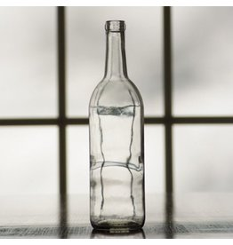 750 ML Clear Bordeaux Flat Bottom Bottles 12/Case