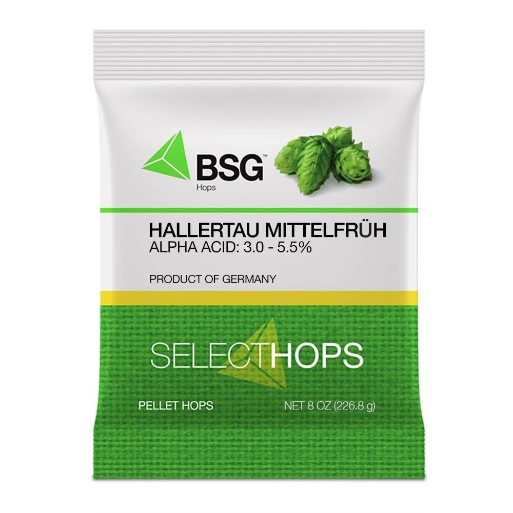 Hallertau Mittelfruh (GE) Pellet Hops 8oz