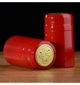 PVC Holidy Red Shrink/Capsule 500ct