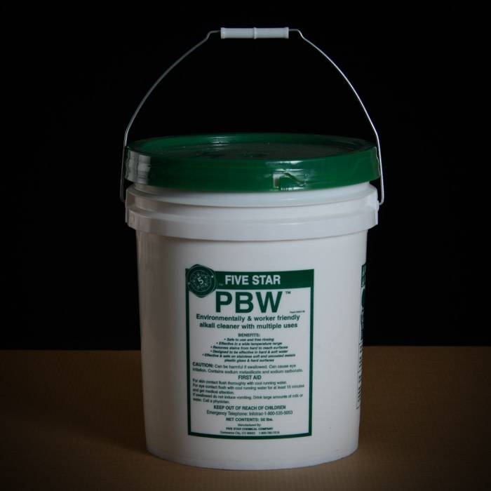 Pbw 50 Lb Pail Powdered Brewery Wash