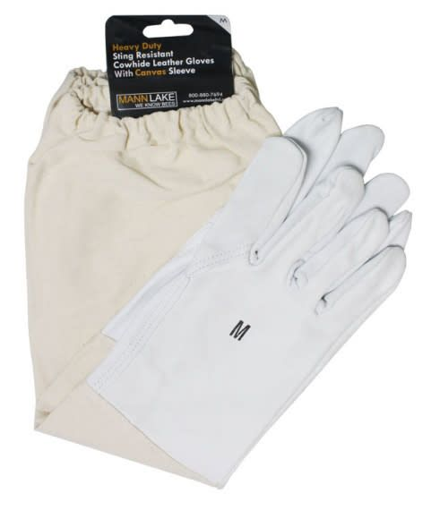 Economy Cowhide Leather Gloves - Medium