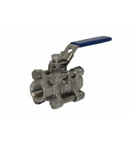 Proflow Dynamics 1/2 Stainless Ball Valve'' Proflow Camlock 3 Piece Ss304