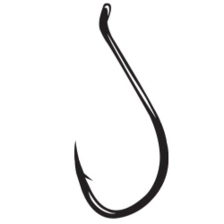 Gamakatsu Live Bait Hook, Needle Point, Ringed Eye, NS Black