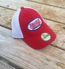 Tackle Center Hat Red/White Mesh Youth