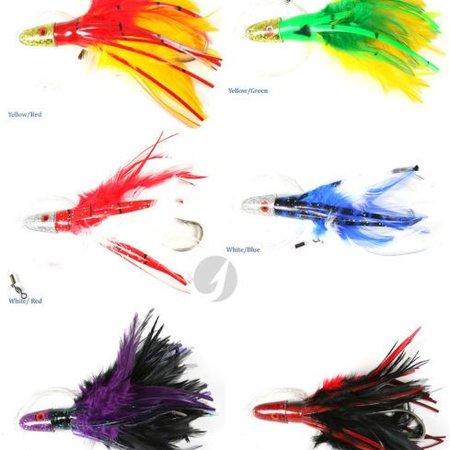 No Alibi Trolling Feathers rigged