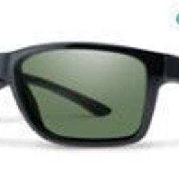 Smith Optics Wolcott Black CP Polarized Gray Green Mirror