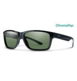 Smith Optics Wolcott Black CP Polarized Gray Green Mirror