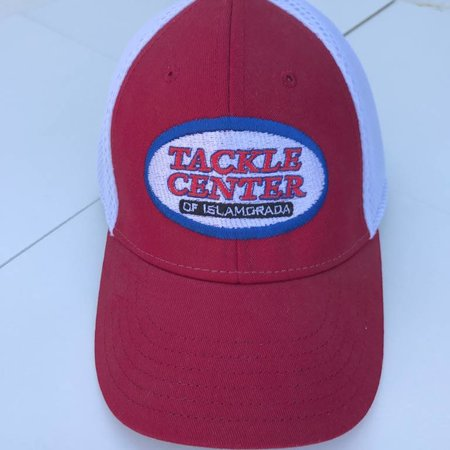 Tackle Center Hat Red/White Mesh / Flex Fit