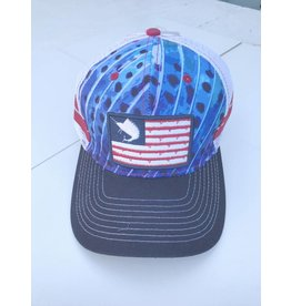 Outdoor Addictions Hat US Flag with Sailfish