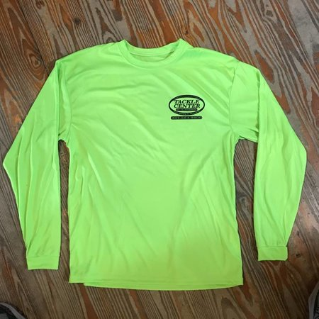 Tackle Center Lime Green Performance Shirt