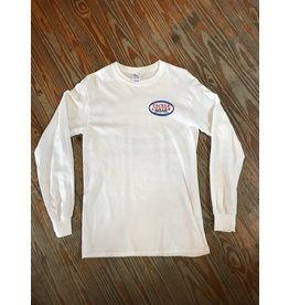 Tackle Center Long Sleeve Cotton T-Shirt White