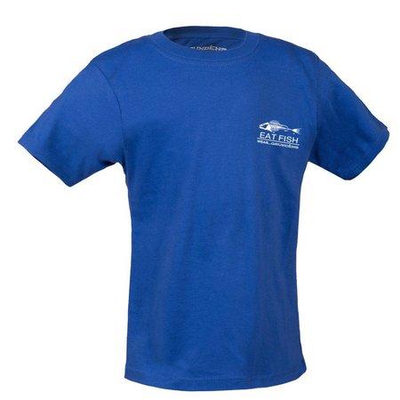Grundens Youth Eat Fish T-Shirt Royal Blue