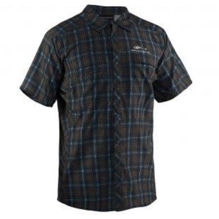 Grundens Fly Bridge Short Sleeved Shirt Dark Slate