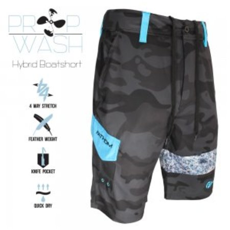 Fathom Offshore Prop Wash Hybrid Shorts Distressed Camo
