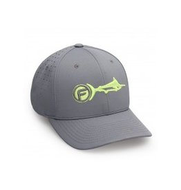 Fathom Offshore Signature Air Fitted Hat Dark Charcoal