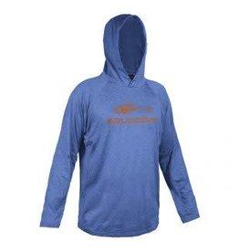 Grundens Deck Hand Hooded Shirt Deep Water Blue