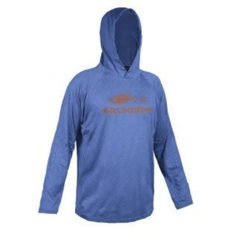 Grundens Deck Hand Hooded Shirt Deep Water Blue