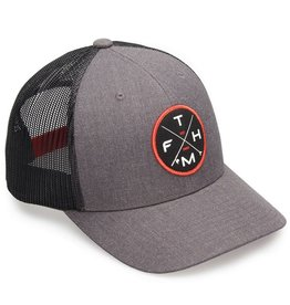 Fathom Offshore Crossed Up Trucker Hat Charcoal/Black