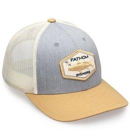 Fathom Offshore Blackwater Trucker Hat Grey Birch/Gold