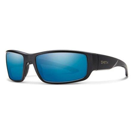 Smith Optics Survey Matte Black Polarized  Blue Mirror