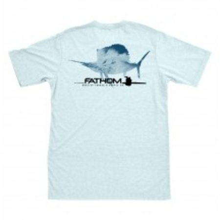 Fathom Offshore Breakers Sailfish T-Shirt Ice Blue
