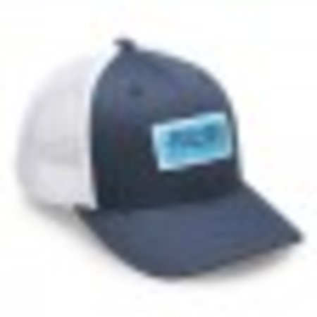 Fathom Offshore Pole Position Adjustable Trucker Hat Navy/White