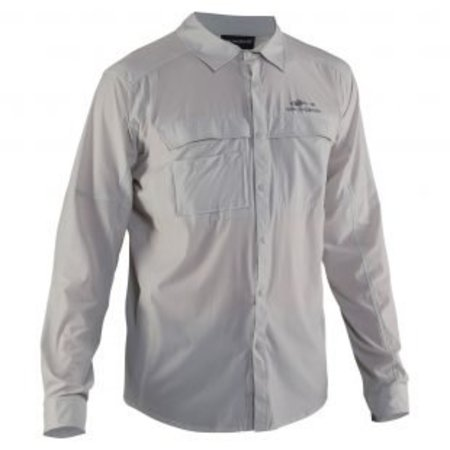 Grundens Hooksetter Long Sleeve Shirt Glacier Grey