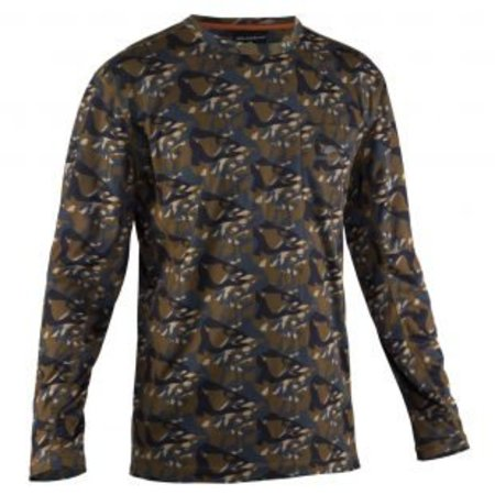 Grundens Fish Head Long Sleeve Shirt Butternut Camo