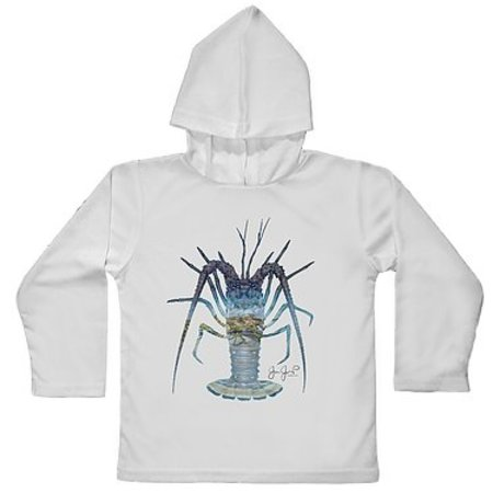 Tackle Center Toddler SPF Hooded Performance Shirt Lobster