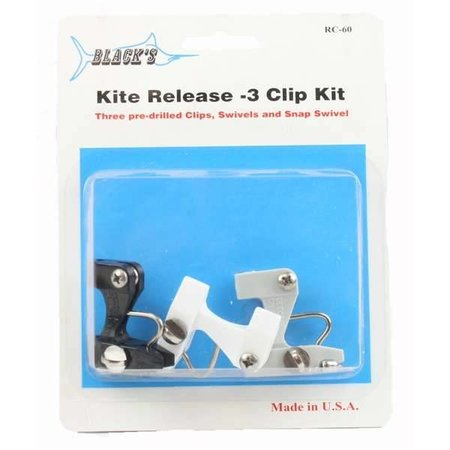Black's Marine RC60 Kite Clip 3 Clips