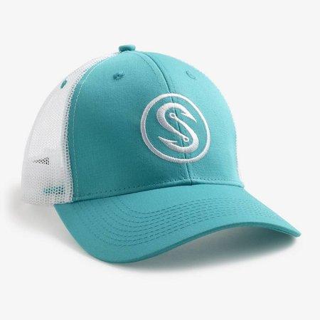 Scales Hook Trucker Hat Aqua