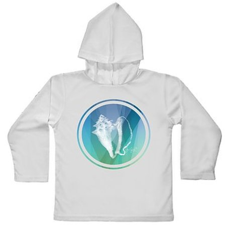 Tackle Center Toddler Hooded SPF Performance Shirt Conch