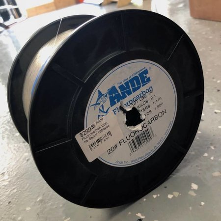Ande Fluorocarbon 20lb 1lb Spool 1600yds