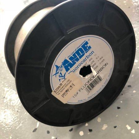 Ande Fluorocarbon 15lb 1lb Spool 2000yds