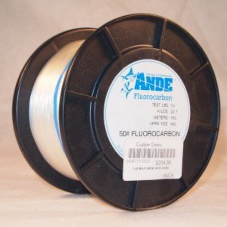Ande Fluorocarbon 50lb 1lb Spool 600yds
