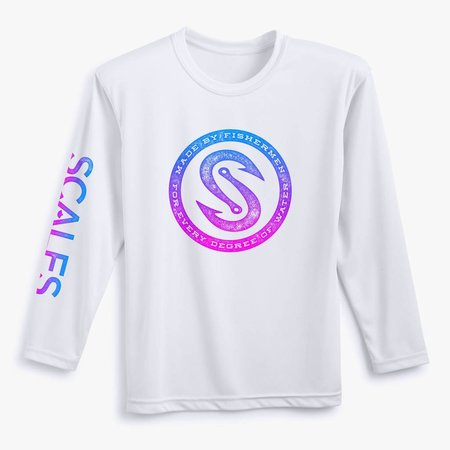 Scales Girl's Pro Performance Rashguard Every Degree White
