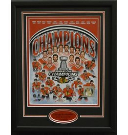 CHICAGO BLACKHAWKS 2015 STANLEY CUP CHAMPIONS COMPOSITE 11X14 FRAME