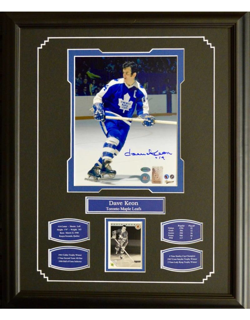 dave keon autograph 16x20 frame toronto maple leafs