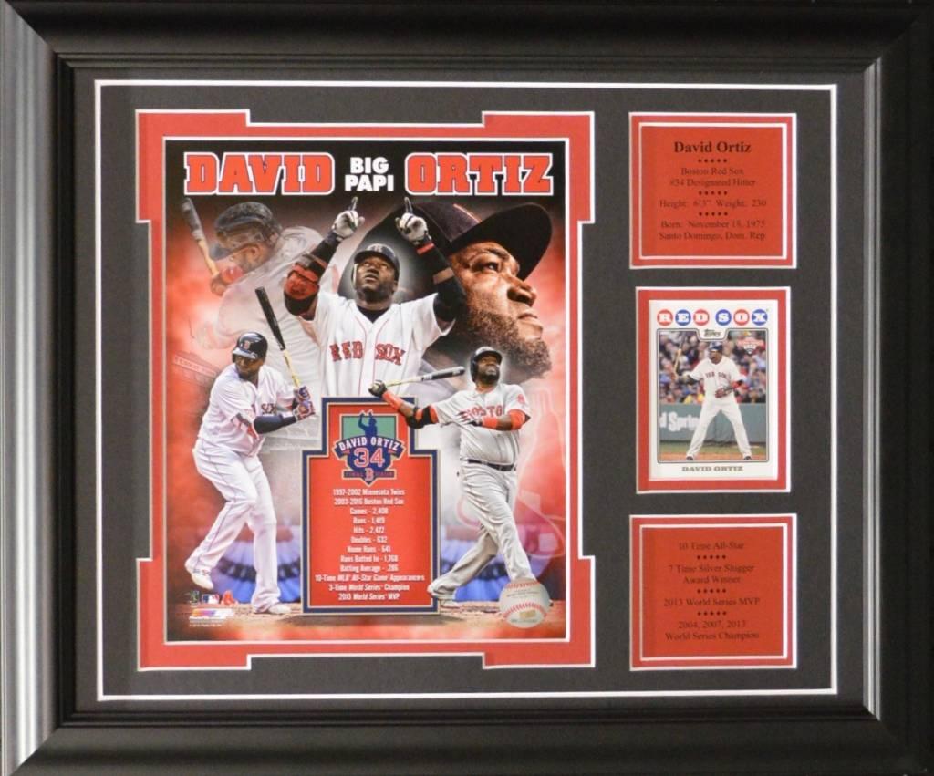 DAVID ORTIZ 13X16 FRAME - BOSTON RED SOX - AJW Sportscards