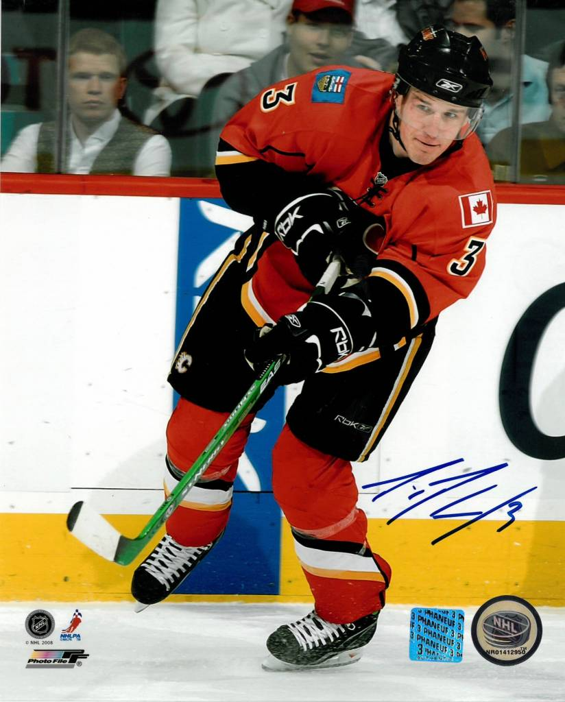 DION PHANEUF 8X10 AUTOGRAPHED PHOTO