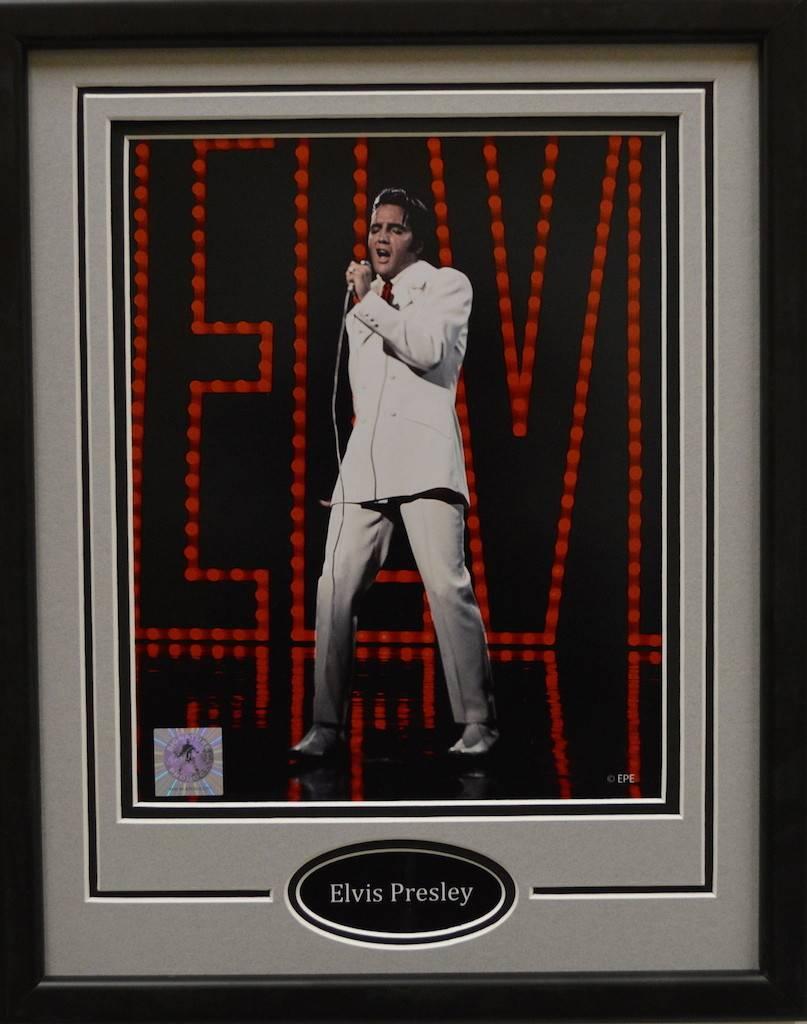 ELVIS PRESLEY 11X14 FRAME - AJW Sportscards