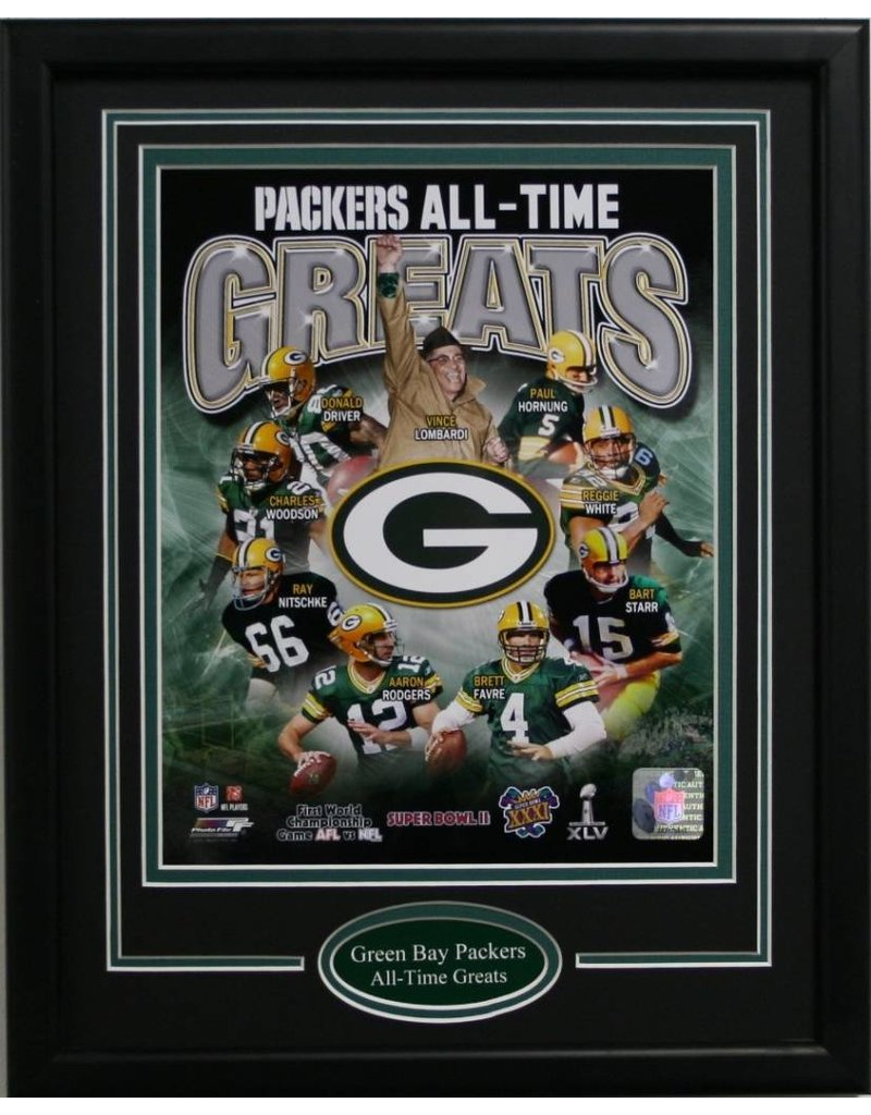 GREEN BAY PACKERS ALL-TIME GREATS 11X14 FRAME