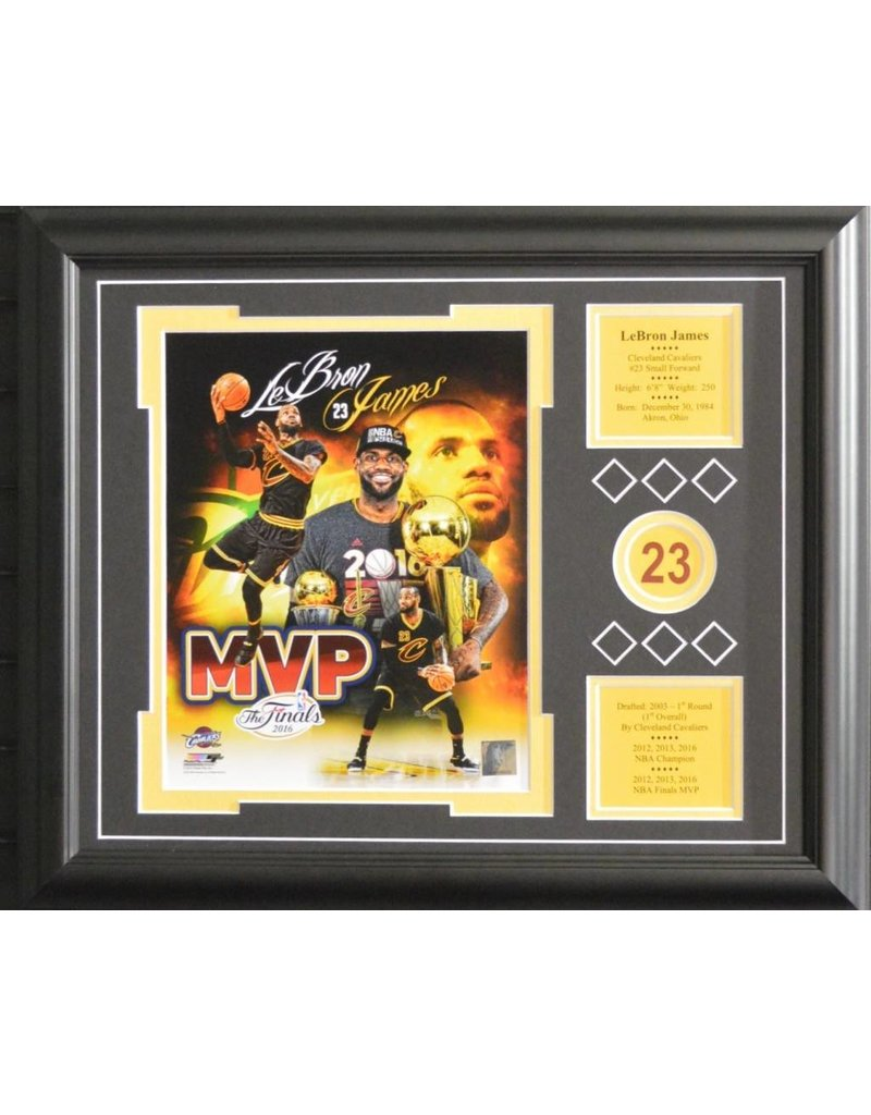 LEBRON JAMES 13X16 FRAME - CLEVELAND CAVALIERS