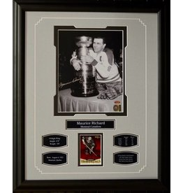 MAURICE RICHARD AUTOGRAPH 16X20 FRAME - MONTREAL CANADIENS