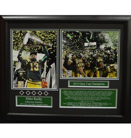MIKE REILLY 2015 GREY CUP CHAMPION 16X20 FRAME - EDMONTON ESKIMOS