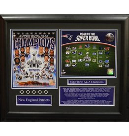 NEW ENGLAND PATRIOTS ROAD TO SUPER BOWL 49 16X20 FRAME