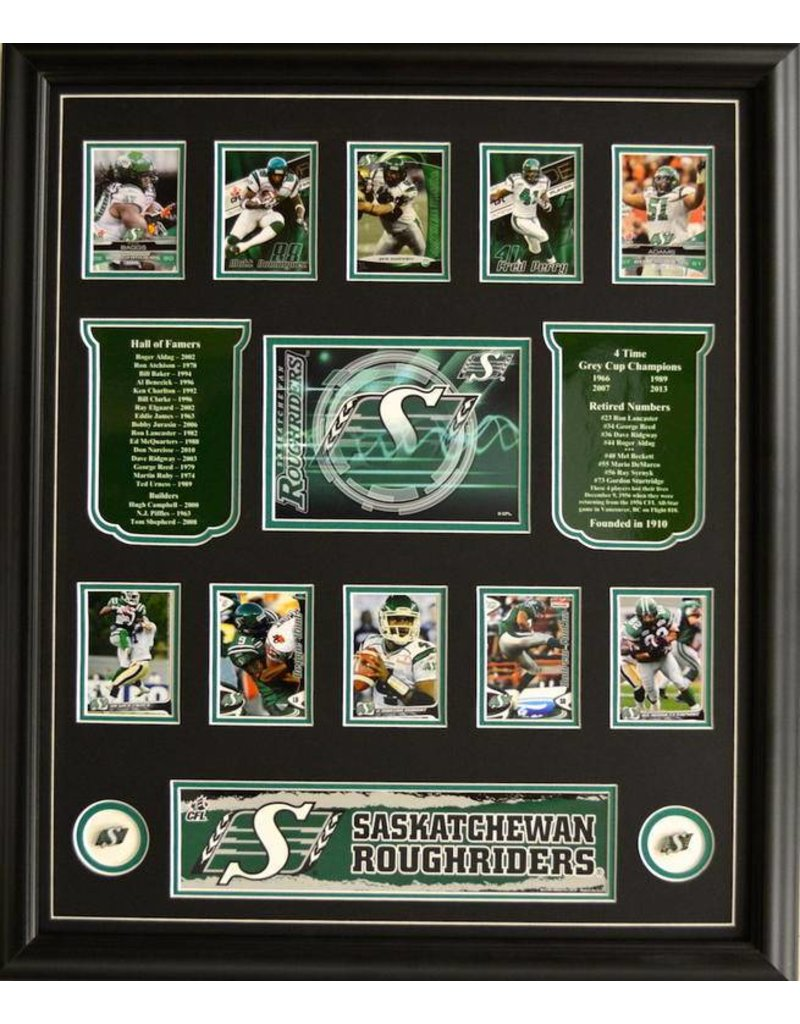 TEAM HISTORY - SASKATCHEWAN ROUGHRIDERS 20X24 FRAME