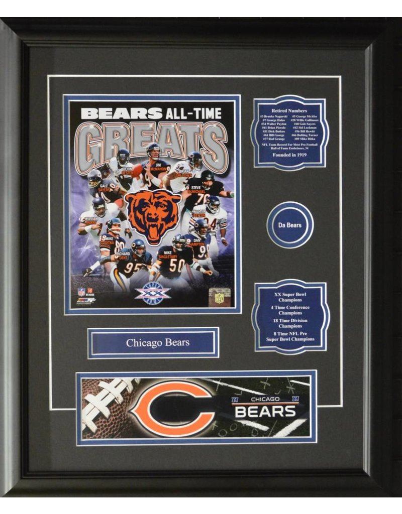 CHICAGO BEARS ALL-TIME GREATS 16X20 FRAME